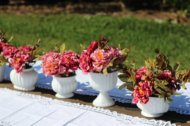 milk glass short vases,long vases, center pieces, candy compotes,flower pots,urns,goblets,teacup and saucers