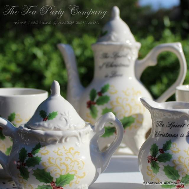 Holly Berry China Children Tea Set
