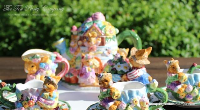 Easter theme Children's Tea Set