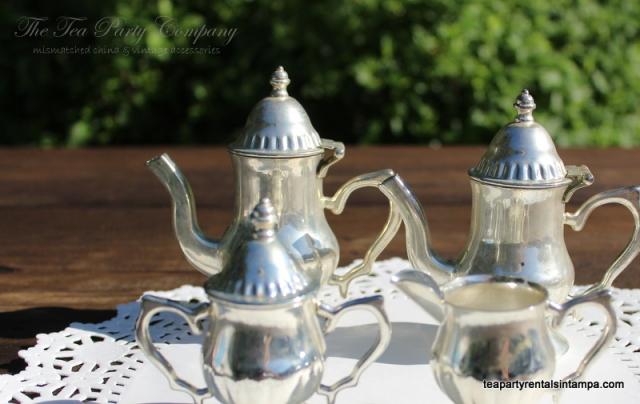 Silver plated 4 piece tea coffee set