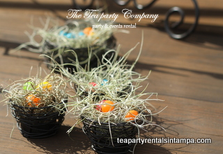 Wrought Iron Bird Nest Tea Party Company