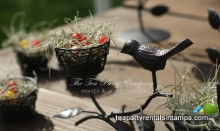Wrought Iron Birds Center Piece Tea Party Company