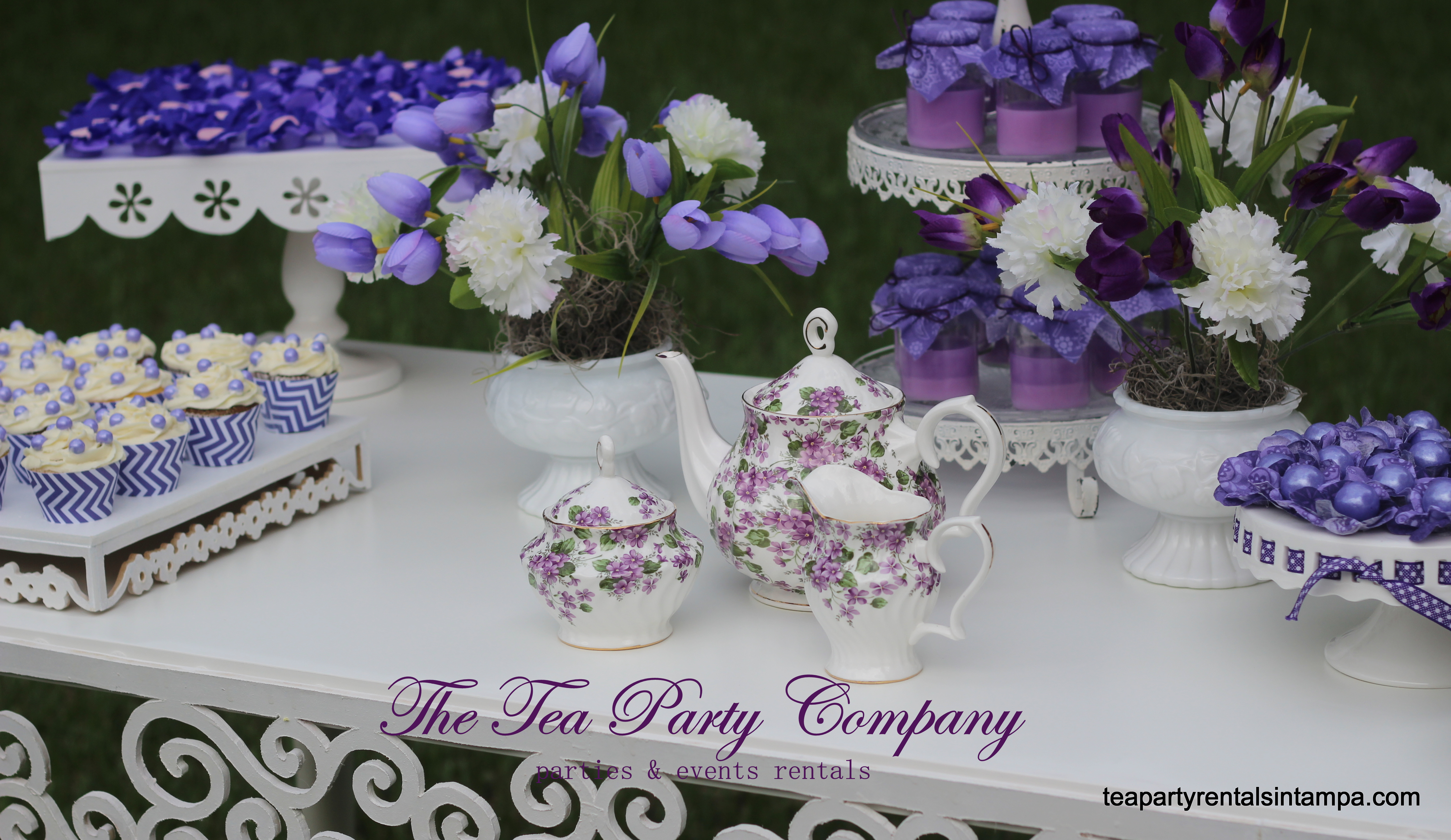 Purple & Lavender Wedding Candy Buffet | The Tea Party Company