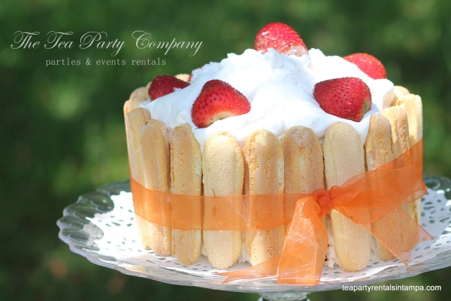 Lady Finger Cake for THe Tea Party Company