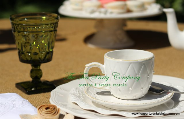 Pearl Tea Set with Matching Teacup & Saucer (4)