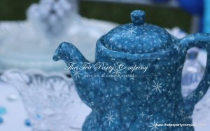 Decoupage frozen theme teapot decor