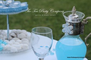 Clear glass silver plated carafe frozen decor