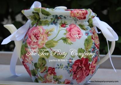 floral fabric vintage print cozy teapot cover